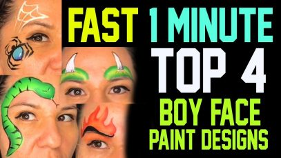 Top 4 Easy Fast Boys Face Painting Ideas Tutorial