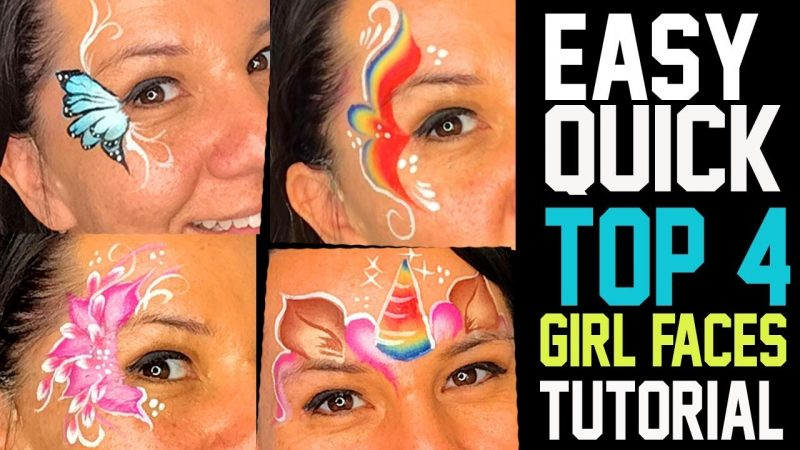 4 Easy Fast Girl Face Painting Ideas