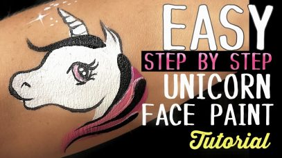 Unicorn Step by Step Easy Face Paint Tutorial
