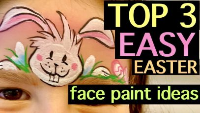 Easy Quick Easter Face Painting Step by Step